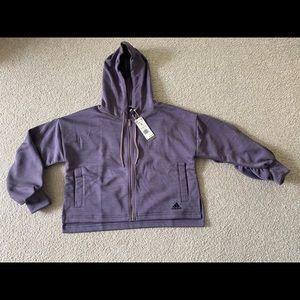 Adidas FR8292 Gathered Hoodie Track Top Jacket